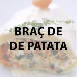 Brazo de Patata, atún, huevo duro y aceituna